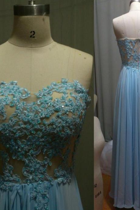 Blue Prom Dresses,A-Line Prom Dress,Lace Prom Dress,Strapless Prom Dress,Chiffon Prom Dress,Simple Evening Gowns,Backless Party Dress,Elegant Prom Dresses,Formal Gowns For Teens